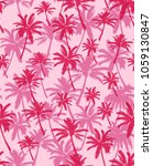 vector illustration palm trees. ...   Shutterstock .eps vector #1059130847