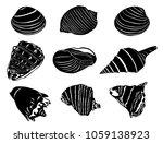 Sea Shells Silhouettes...