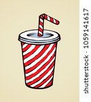 pop red plastic tare of cool... | Shutterstock .eps vector #1059141617