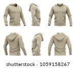 men's zip up hoodie. sweatshirt ... | Shutterstock . vector #1059158267