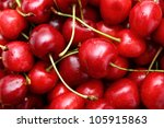 closeup of a bunch of cherry | Shutterstock . vector #105915863