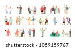 big set of healthy active... | Shutterstock .eps vector #1059159767