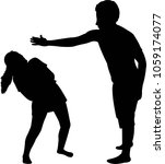 man hitting the lady ... | Shutterstock .eps vector #1059174077