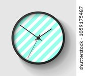 simple striped wall clock in... | Shutterstock .eps vector #1059175487