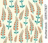 bright flowers decorative... | Shutterstock .eps vector #105917837