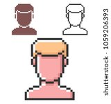 pixel icon of  male user... | Shutterstock . vector #1059206393