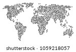 global collage map constructed... | Shutterstock .eps vector #1059218057
