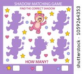 shadow matching game. find the... | Shutterstock .eps vector #1059264353
