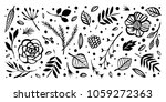 flower frame template. floral... | Shutterstock .eps vector #1059272363