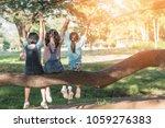 children friendship concept... | Shutterstock . vector #1059276383