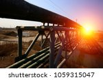 oil pipeline  industrial... | Shutterstock . vector #1059315047