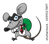 mouse using mask as a thief ... | Shutterstock .eps vector #1059317897