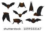 vampire bat flying cartoon... | Shutterstock .eps vector #1059333167