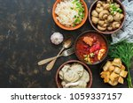a variety of traditional... | Shutterstock . vector #1059337157
