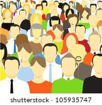 the crowd of abstract people.... | Shutterstock .eps vector #105935747