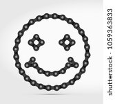 smiling face icon made of bike ...