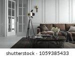 interior living room studio ... | Shutterstock . vector #1059385433
