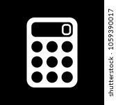 simple calculator icon. white...