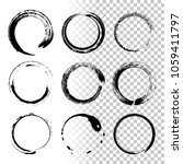 round grunge frames isolated on ... | Shutterstock .eps vector #1059411797