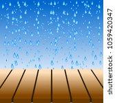 empty brown tabletop display...   Shutterstock .eps vector #1059420347