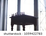 retro table. chessmen political ...   Shutterstock . vector #1059422783