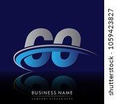 initial letter go logotype...   Shutterstock .eps vector #1059423827