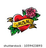 a tattoo with the inscription... | Shutterstock .eps vector #1059423893