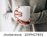 closeup of female hands with a...   Shutterstock . vector #1059427853