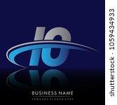 initial letter io logotype...   Shutterstock .eps vector #1059434933