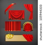 theater  vector set | Shutterstock .eps vector #105944333