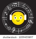 music note background with... | Shutterstock .eps vector #1059455897
