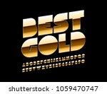 vector extra golden rich font.... | Shutterstock .eps vector #1059470747