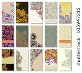 collection of colorful floral... | Shutterstock .eps vector #105947213