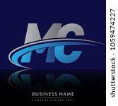 initial letter mc logotype...   Shutterstock .eps vector #1059474227