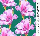 watercolor hand paint pink ... | Shutterstock . vector #1059487013