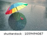 Colorful Umbrella In The Rain....