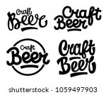 hand drawn lettering  craft... | Shutterstock .eps vector #1059497903
