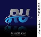 initial letter ru logotype...   Shutterstock .eps vector #1059513833
