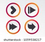 arrow icons. next navigation... | Shutterstock .eps vector #1059538217