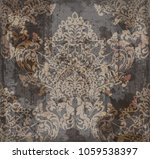 vector damask pattern element.... | Shutterstock .eps vector #1059538397