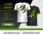 t shirt template  fully... | Shutterstock .eps vector #1059543143