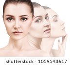disappearing faces of sensual... | Shutterstock . vector #1059543617