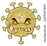 angry cartoon ugly virus.... | Shutterstock .eps vector #1059547847