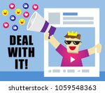 illustration vector of funny... | Shutterstock .eps vector #1059548363