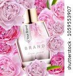 vector realistic pink perfume... | Shutterstock .eps vector #1059553907
