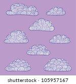 clouds on violet sky | Shutterstock .eps vector #105957167