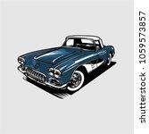 vintage classic car vector   Shutterstock .eps vector #1059573857