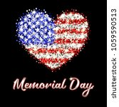 memorial day poster with... | Shutterstock .eps vector #1059590513