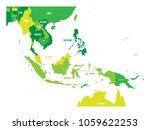 map of southeast asia. vector... | Shutterstock .eps vector #1059622253