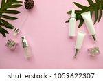 skincare packaging mockup on... | Shutterstock . vector #1059622307